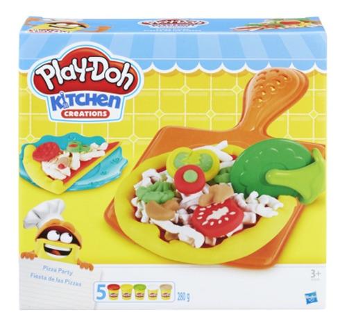 Conjunto Massinha Play Doh Pizza Party Festa Da Pizza Hasbro