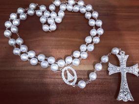 Terço De Noiva Perolas Brancas Nossa Senhora Aparecida