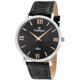 Relógio Champion Masculino Slim Pulseira De Couro Ca21795t