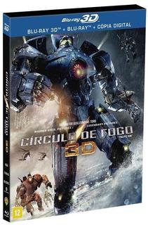 Filme Círculo De Fogo 3d- Dvd Blu-ray 3d - Frete Gratis