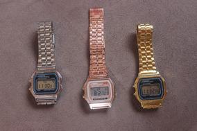 Relógio Estilo Casio Dourado