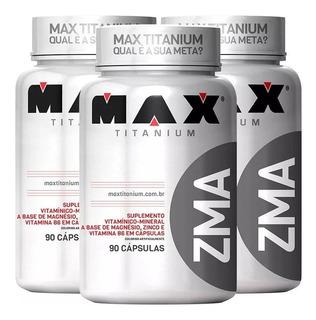 3x Pré Hormonal Testosterona Zma 90caps - Max Titanium