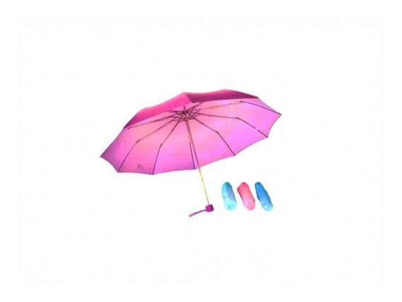 6 X Paraguas De Cartera Sombrilla Al Mayor Y Detal Variados