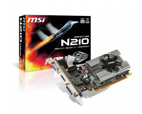 Imagen 1 de 7 de Placa De Video Msi Geforce N210 Md1g/d3 1gb Ddr3 Hdmi Gtia