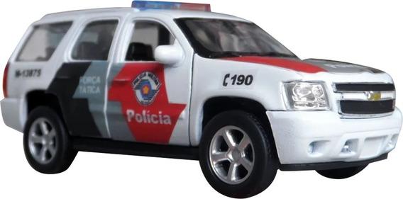Miniatura Chevrolet Tahoe Polícia Militar Pm Sp - Coral