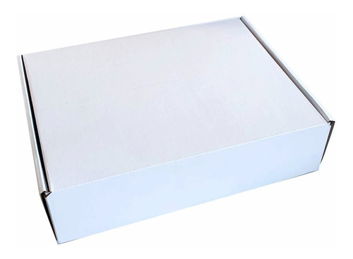25 Cajas Paredes Dobles Blancas 32x25x8cm Microcorrugado