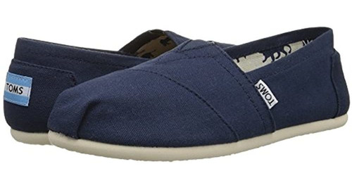 Toms Womens Classics Navy Canvas 001001b07-nvy Mujer 8.5