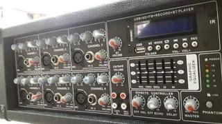 Mixer Potenciado Sanrai Jmp6150 Bluetooth 6 Ch Usb Radio