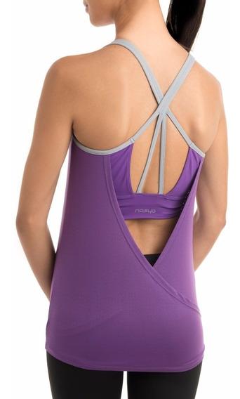 Musculosa + Top Yoga Violeta Claro Nasya Importado