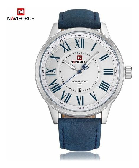 Relógio Masculino Naviforce 9126 Social Esportivo Azul