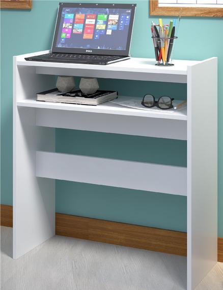 Mesa Para Notebook Multiuso Branca Móvel Bancada De Tv