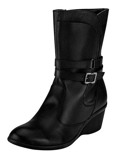 Botines Jeans Shoes 34402 Negro Piel Tacon 5 Cm Dama Pv