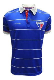Camisa Polo Azul Exclusiva Torcedor Time Tricolor Fortaleza