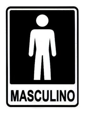 Placa Porta Banheiro Masculino Indicativa  Frete Grátis