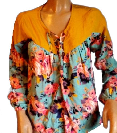 Camisa, Mangas Largas En Fibrana Talle L(ver Medidas)