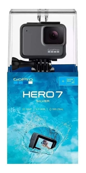 Câmera Digital Gopro Hero 7 Silver 10mp Wi-fi 4k Original