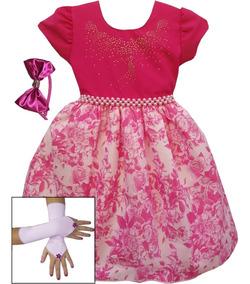 Vestido Infantil Dama Daminha Casamento Festa Luxo E Tiara