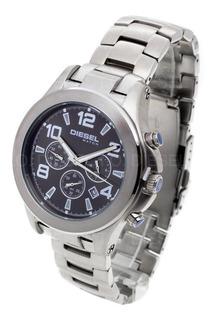 Reloj Diesel Hombre 607c 032 Acero Cuero Sumergible Crono