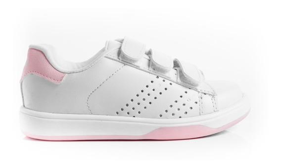 Zapatillas Zapatos Escoalr Colegial Escolar Unisex Blancas