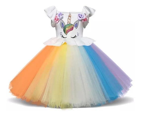 Vestido Princesa Unicornio - Envío A Domicilio