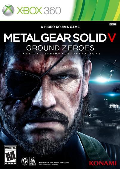 Jogo Metal Gear Solid V Ground Zeroes Xbox 360 Frete Grátis