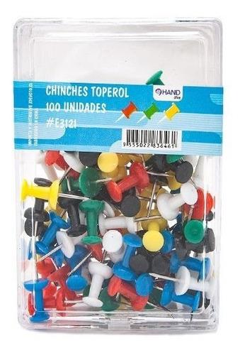 Push Pin Colores 100 Unidades - Libreríacentro