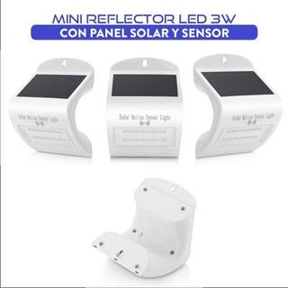 Reflector Led 3w Con Panel Solar Y Sensor