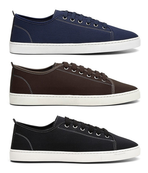 Kit 3 Sapatos Na Moda Para Meninos E Homens Frete Gratis