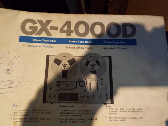 Manual Do Usuário Akai Gx-4000d(arquivo Em Pdf)