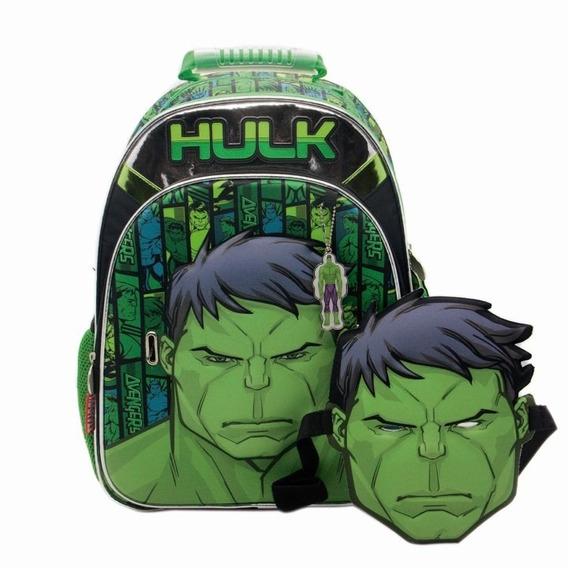 Mochila Hulk De Espalda Mascara 16 PuLG Cresko Sp160
