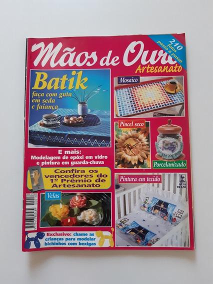 Revista Mãos De Ouro Artesanato Batik Mosaico Velas F208