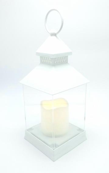 Farol Fanal Vela Led Blanco Liso Eventos Souvenir + Pilas Incluidas