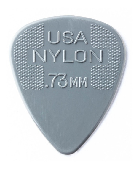 Palhetas Dunlop Nylon 0,73mm - 12 Unidades