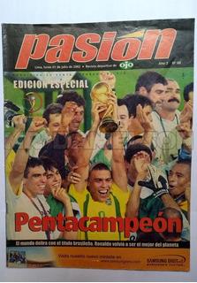 Revista Pasión Brasil Campeón Mundial 2002 D19