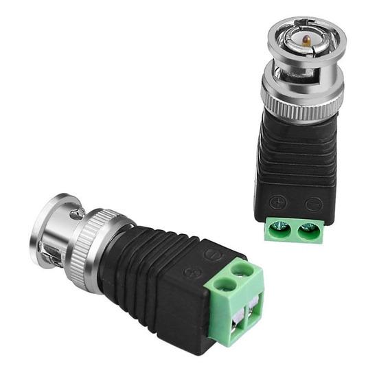 10 Conector Adaptador Bnc Borne Parafuso Para Cftv
