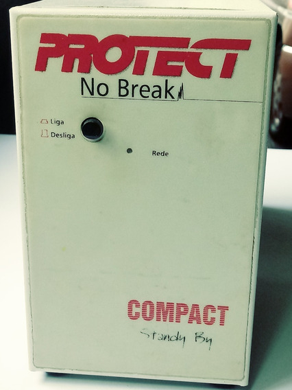 No Break Marca Protect, Vintage, Com Defeito