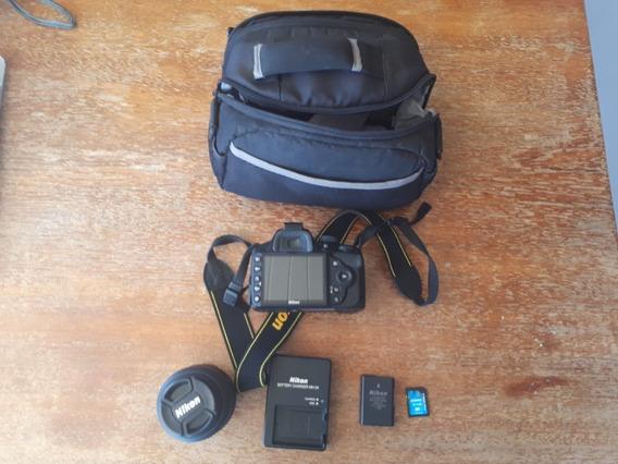 Nikon D3200 + Lente Dx Af-s Nikkor18-55 Mm + Bolsa Ebox