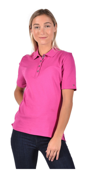 Polo Regular Fit Tommy Hilfiger Rojo Ww0ww25273597 Mujer
