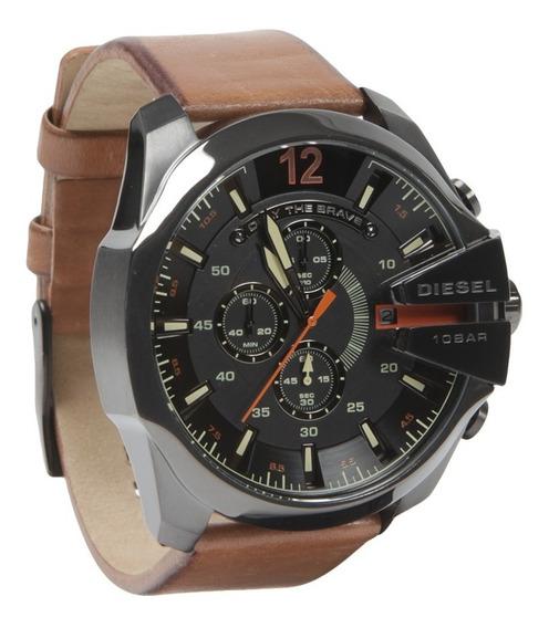 Relógio Diesel Dz4343 Couro 100% Original 2 Anos De Garantia