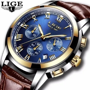 Relógio Original Masculino Luxo Pulseira Couro - Imperdível