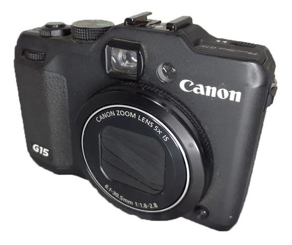 Câmera Canon Powershot G15 Seminova Perfeito Estado