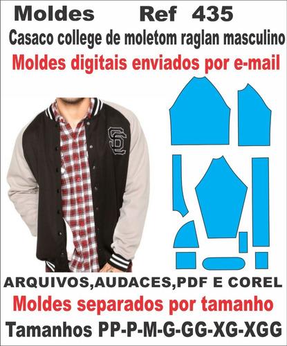Moldes De Casaco College De Moletom Masculino