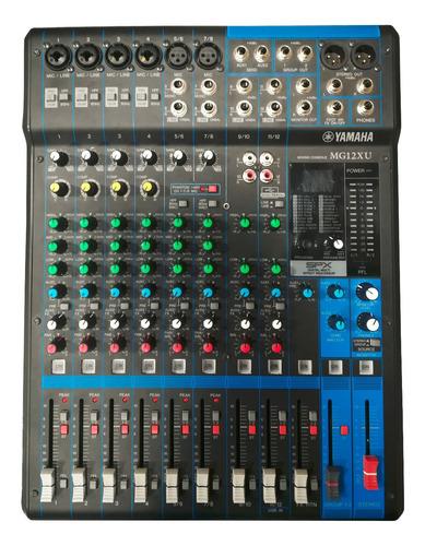 Consola Yamaha Mg12xu 12 Canales Usb Usada De Exhibicion