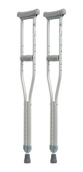 Muletas Axilares De Aluminio 110kg - Reactiv