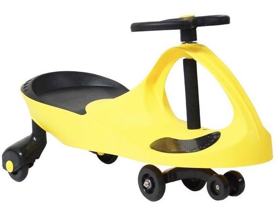 Carrinho Gira Car Infantil Brinquedo Criança Giro Amarelo