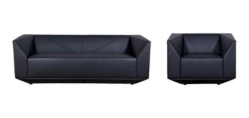 Imagen 1 de 1 de Sofá Elegante Moderno Cuerina 1 Y 3 Puestos