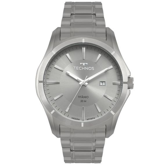 Relógio Masculino Technos 2115mtw/4c 45mm Titânio Prata