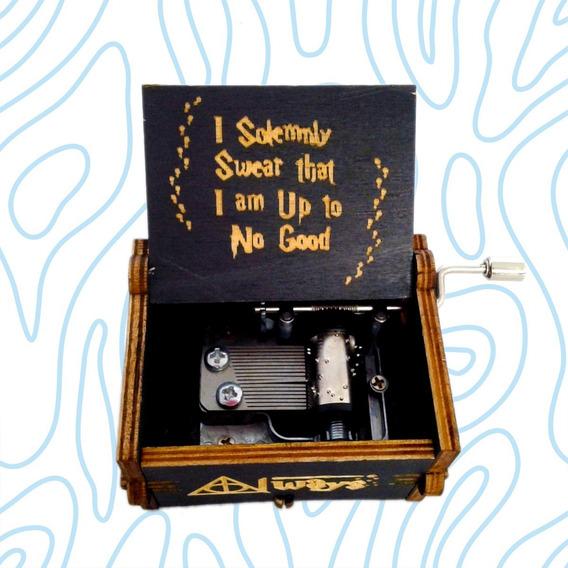 Caja Musical Harry Potter Negra Cajita De Música