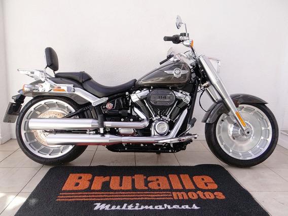 Harley Davidson Fat Boy 114 Cinza