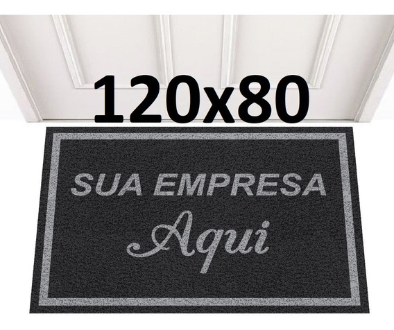 Tapete Capacho Personalizado 120x80 Sua Logomarca Empresa